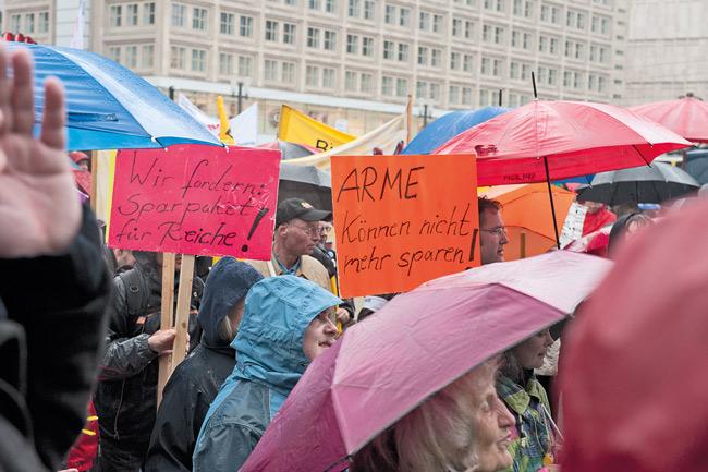 Demonstration gegen Sozialabbau