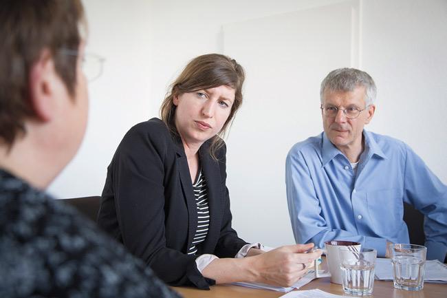Gundel Riebe, Dr. Jutta Hartmann und Dr. Rainer Tietzsch