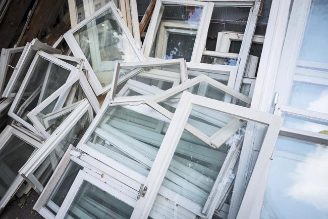 Ausgebaute Fenster