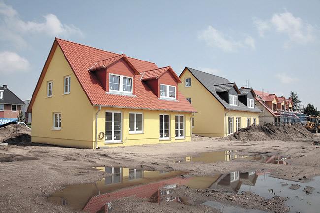 Baugebiet mit neuen Eigenheimen