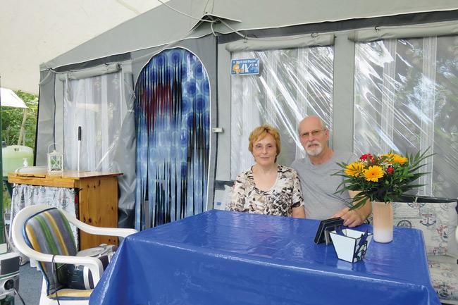 Camper-Ehepaar Sigrid und Norbert Schröder