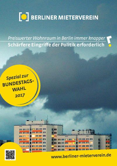 """BMV-Forderungen zur Bundestagswahl: """"Preiswerter Wohnaum in Berlin immer knapper – Schärfere Eingriffe der Politik erforderlich"""