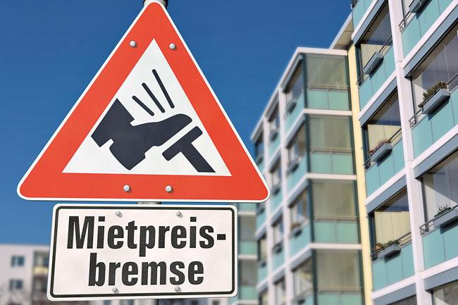 Verkehrszeichen 'Mietpreisbremse'
