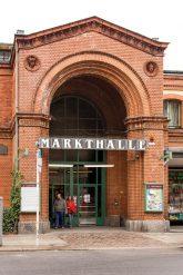 Eingangsportal der Arminiusmarkthalle