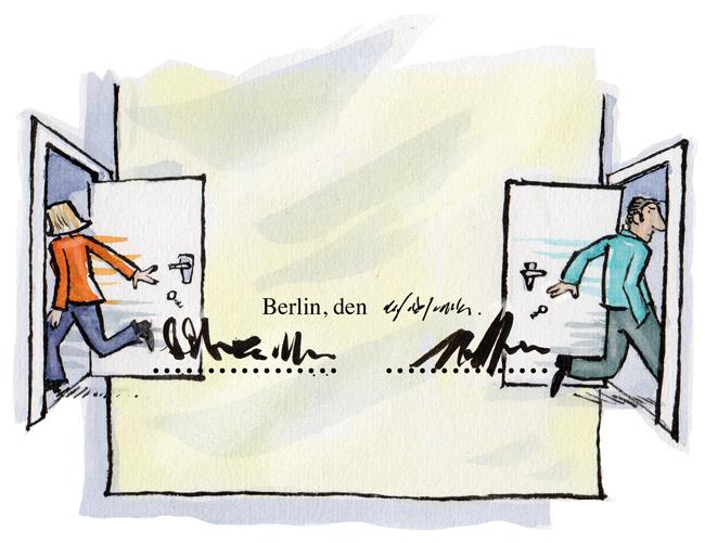 Illustration zur Trennung und Mietvertragskündigung