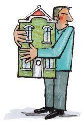Illustration: Festhalten des Hauses