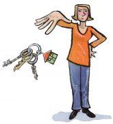 Illustration: Trennung vom Schlüssel