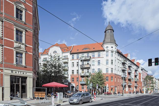 Eckhaus der Genossenschaft 'Bremer Höhe'