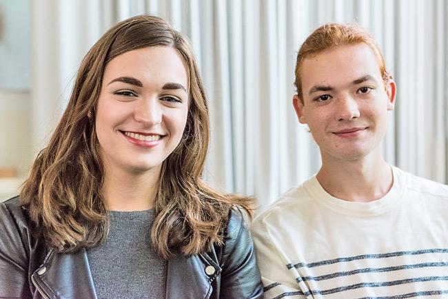 Studenten Mareike und Rocco