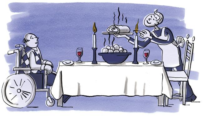 Illustration: 'Wohnen für Hilfe'