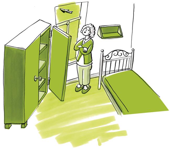Illustration: Möbliertes Zimmer