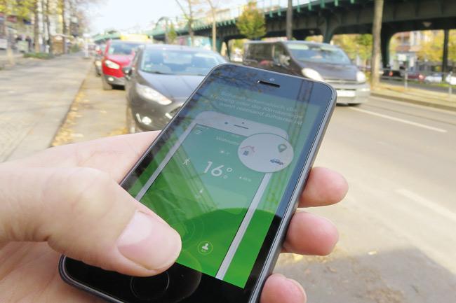 Heizungseinstellung mittels Smartphone