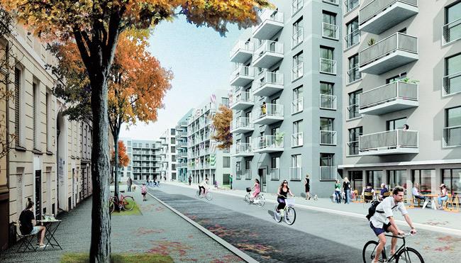 Architektenentwurf mit Typenbauten