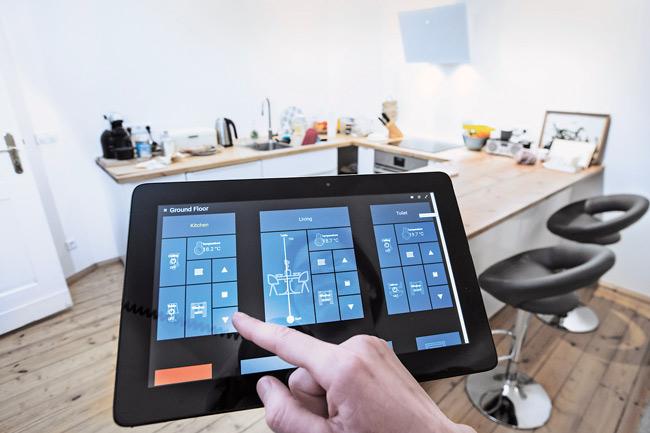Bedien-Tablet für vernetzte Haustechnik