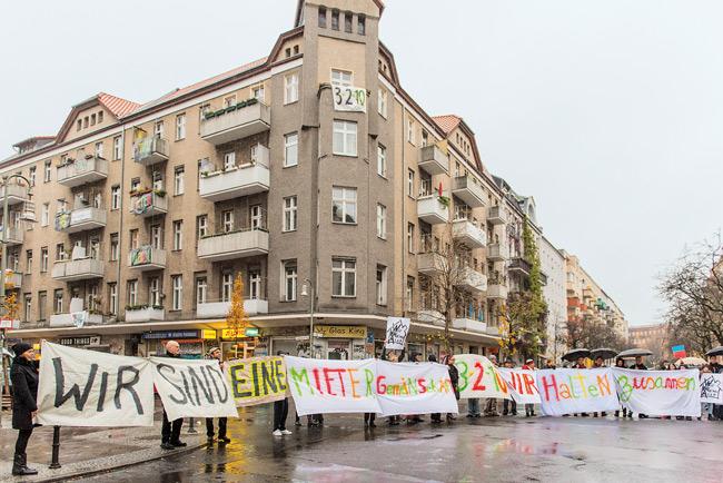 Mieterprotest in der Eisenbahnstraße