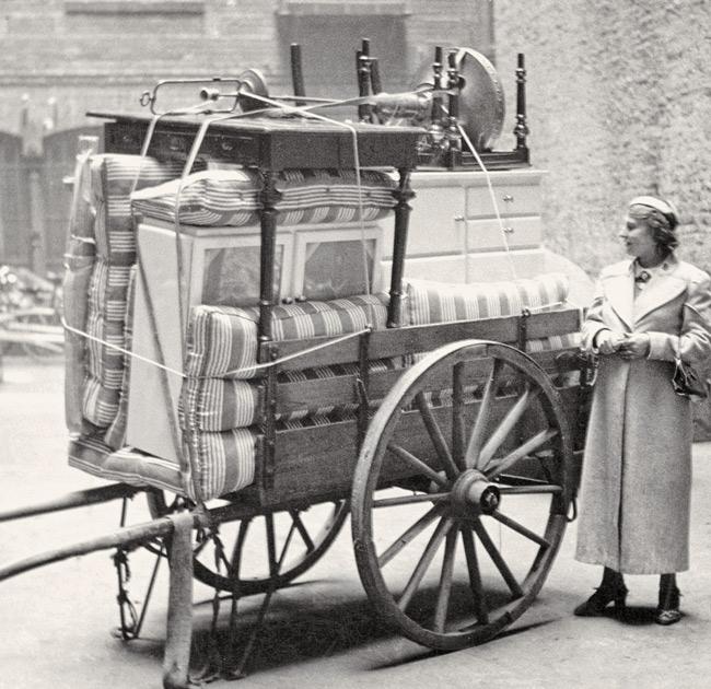 Historisches Foto: 'Schottsche Karre'