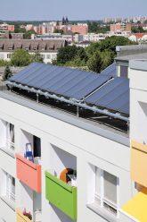 Solarpaneele auf dem Wohngebäude