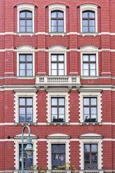 Restaurierte Klinkerfassade