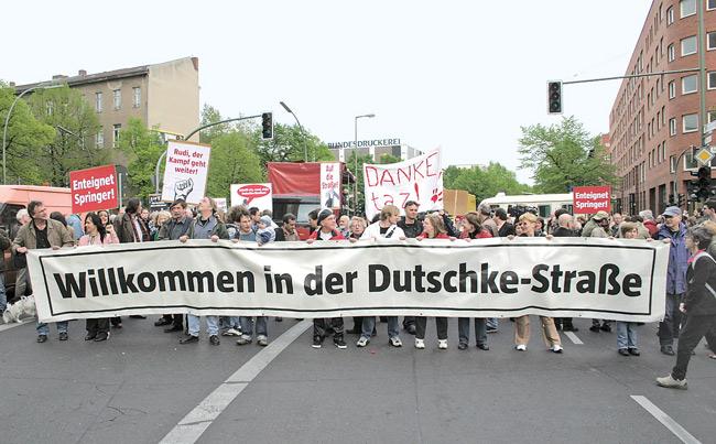 Straßenumbenennung in Dutschkestraße