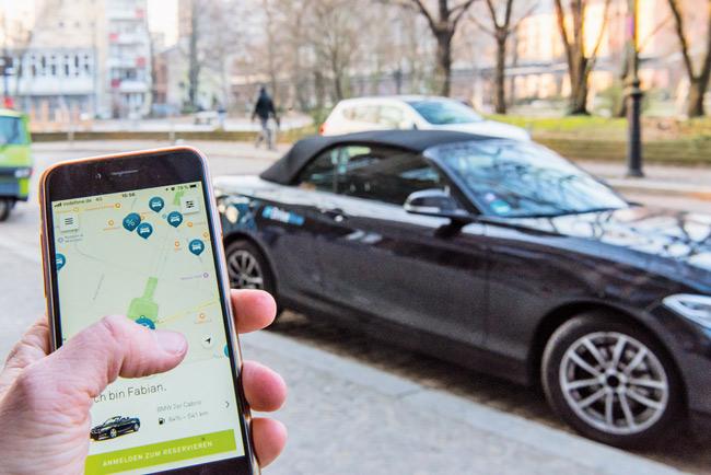 Mietauto und Car-Sharing-App