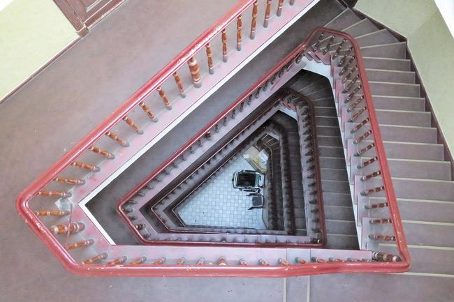 Treppenhaus in der Warthestraße 49