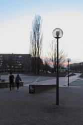 Straßenlampe am Hellersdorfer Theaterplatz