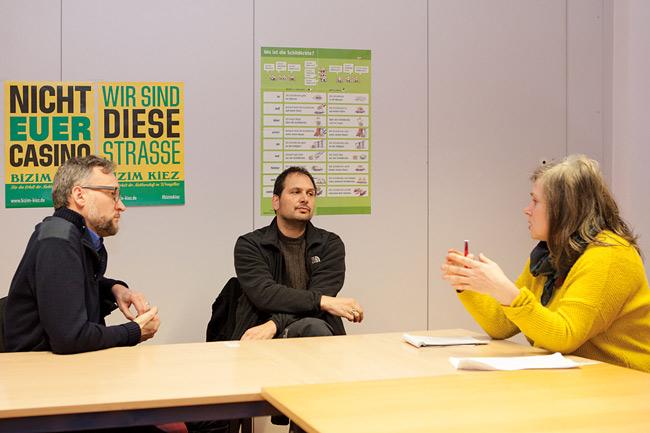 MieterMagazin-Autorin Leiß im Gespräch mit Hengge und Vergin