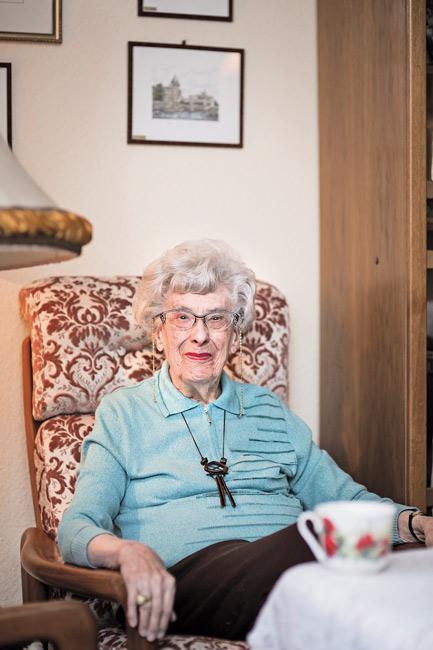 Mieterin in einem Seniorenwohnhaus: Charlotte Oberberg