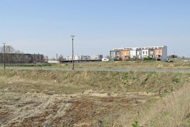 Brachfläche für das geplante Wohngebiet