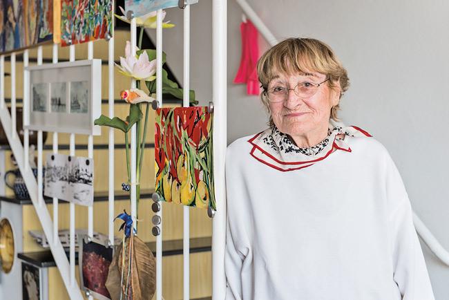 Sabine Schulte-Schäfer in ihrer Wohnung