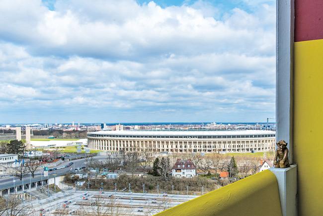 Blick aufs Olympiastadion
