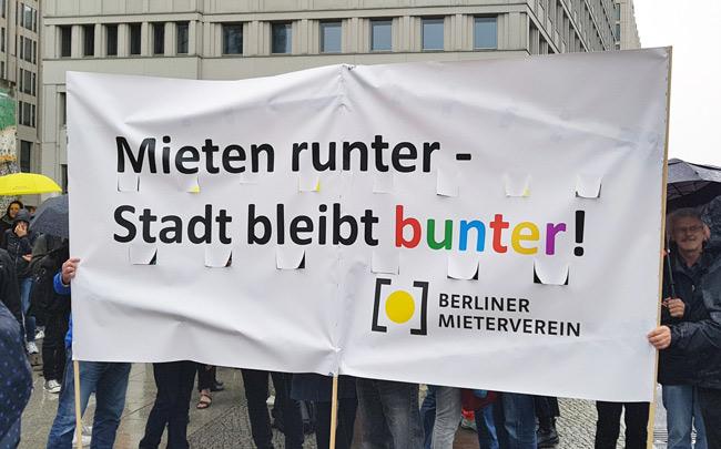 Demonstration Verdrängung und Mietenwahnsinn mm 14. April 2018