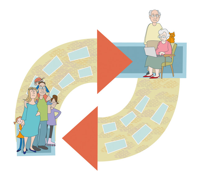 Illustration zum Wohnungstausch