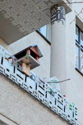 Vogelhäuschen am Balkon