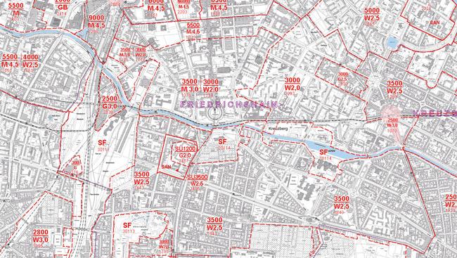 Kartenausschnitt Bodenrichtwerte