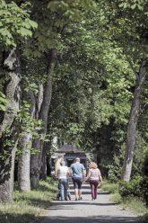 Spaziergänger im Anita-Berber-Park