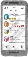 Illustration: Smartphone mit Kündigungsnachricht