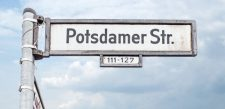 Straßenschild 'Potsdamer Straße'