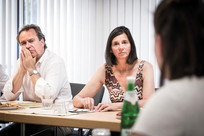 Grünen-Fraktionsvorsitzende Katrin Göring-Eckardt neben BMV-Geschäftsführer Reiner Wild