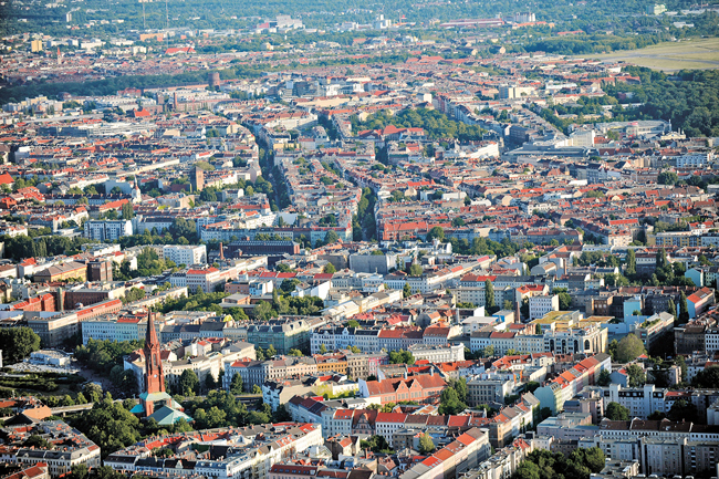 Luftbildaufnahme von Neukölln