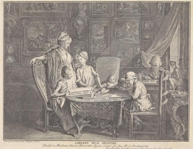 Berliner Bürgertum 1771: Lesezimmer