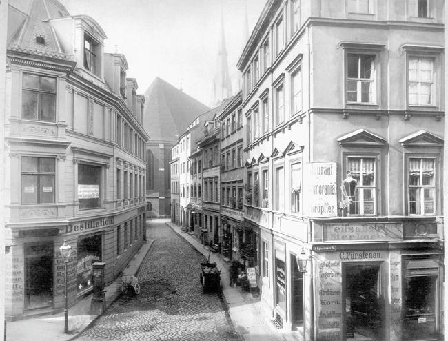 Historisches Foto der Nikolaikirchgasse