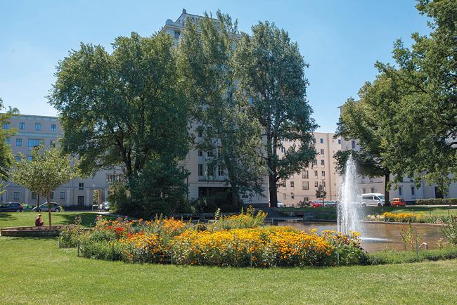 Springbrunnen in der Weberwiese