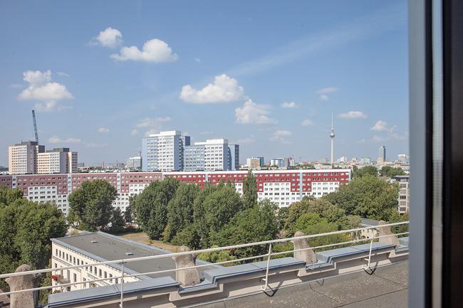 Aussicht aus dem obersten Stockwerk