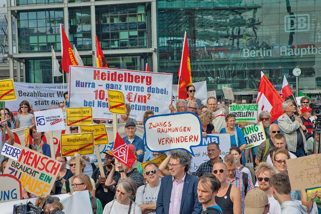 Demonstration zum Wohngipfel