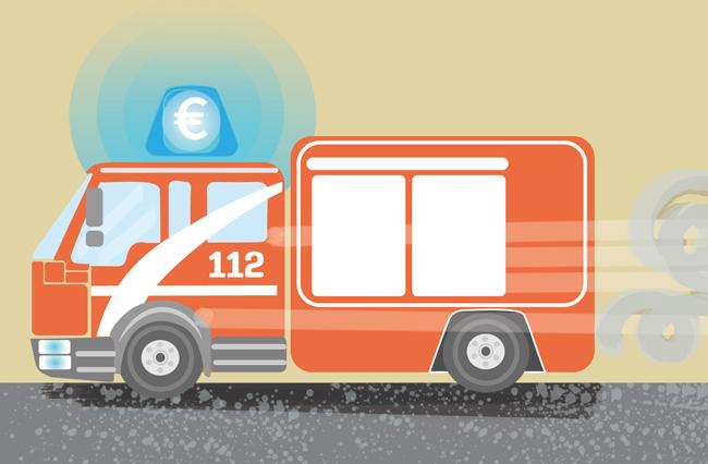 Illustration: Feuerwehrauto