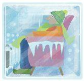 Illustration: Mieter mit Eiszapfen
