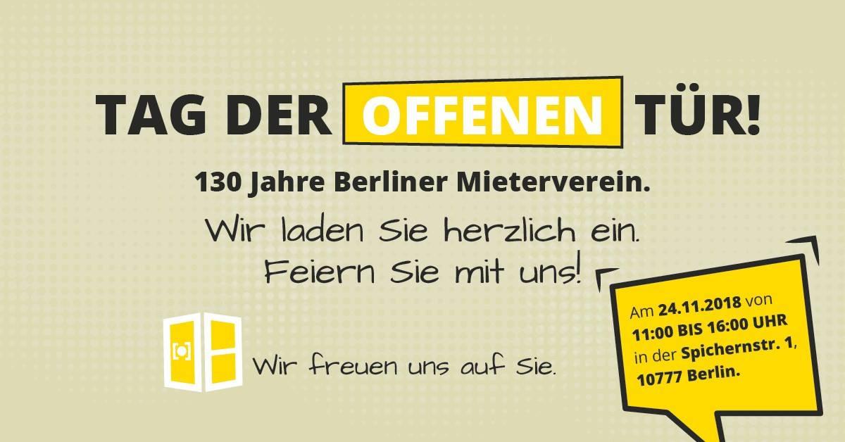 Tag der Offenen Tür beim Berliner Mieterverein