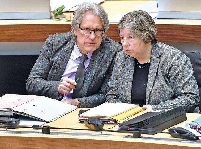 Finanzsenator Matthias Kollatz und Stadtentwicklungssenatorin Katrin Lompscher