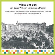 Ausstellungsplakat 'Miete am Boxi'